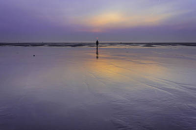 Crosby Beach Sunset Art Print