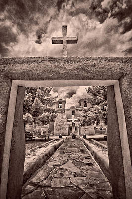 New Years - Cross at San Francisco De Asis by Christine Hauber