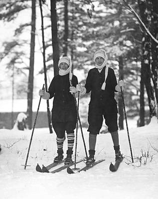 Woollen Photograph - Cross Country Skiing by Underwood Archives