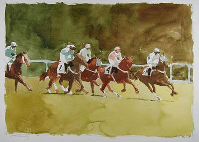 Steeplechase Painting - Cross Country by Stephen Rutherford