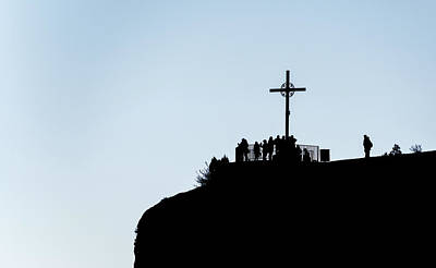 Photograph - Cross In Montserrat, Catalonia, Spain by Marek Poplawski