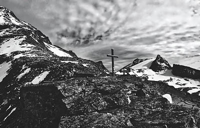 Photograph - Cross On Mountaintop - Austria by Pixabay