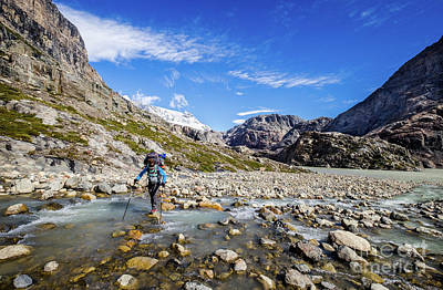 Photograph - Crossing A River In Patagonia by Olivier Steiner