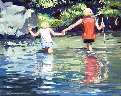 Crossing Art Print by Bob Duncan