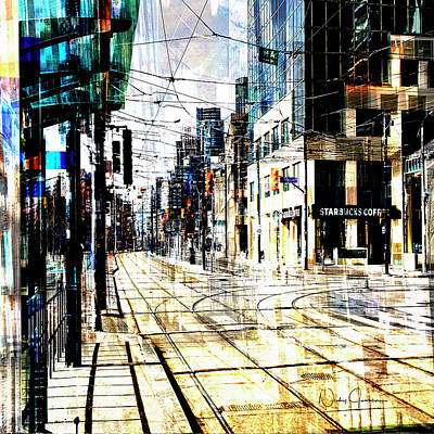 Digital Art - Crossing Spadina by Nicky Jameson