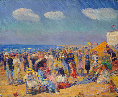 Painting - Crowd At The Seashore by William Glackens