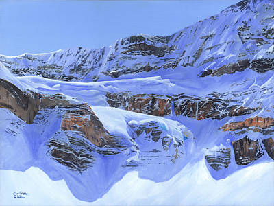 Crowfoot Glacier Art Print by Glen Frear