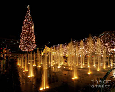 Photograph - Crown Center Christmas by Dennis Hedberg