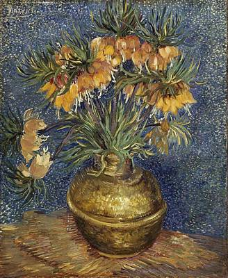 Painting - Crown Imperial Fritillaries In A Copper Vase by Vincent Van Gogh
