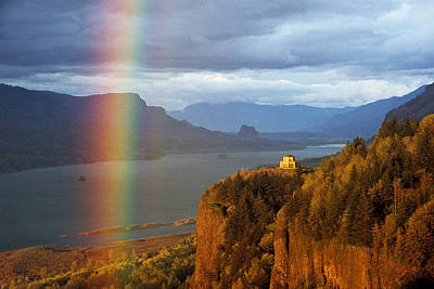 Photograph - Crown Point Rainbow by Doug Davidson