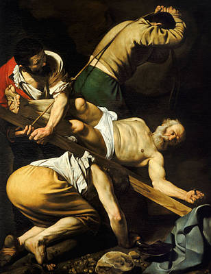 Crucifixion Of Saint Peter Art Print by Caravaggio