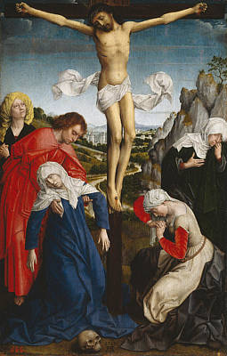Las Cruces Painting - Crucifixion by Rogier van der Weyden