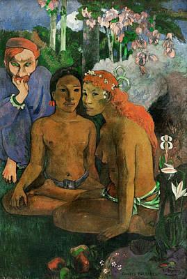 Metaphor Painting - Cruel Tales - Exotic Saying by Paul Gauguin