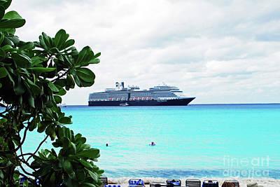 Photograph - Cruise Ship At Half Moon Cay by Gary Wonning