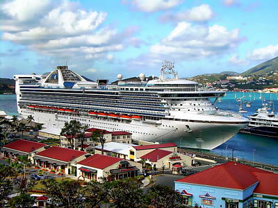 Photograph - Cruise Ship At Port by Anthony Dezenzio