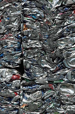 Photograph - Crushed Cans by Larry Johnston