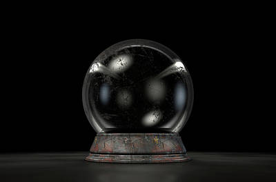 Crystal Ball Dark Art Print by Allan Swart