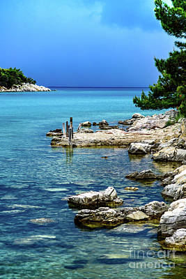 Photograph - Crystal Clear Water Of Rab, Croatia by Global Light Photography - Nicole Leffer