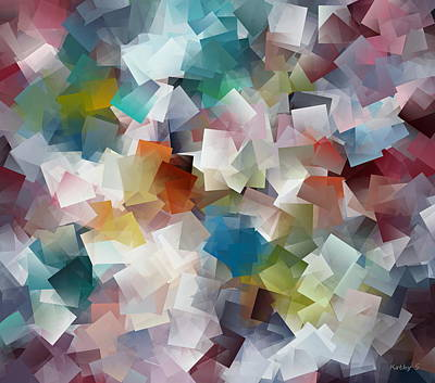 Crystal Cube Art Print by Kathy Sheeran