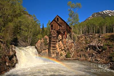 Photograph - Crystal Mill Rainbow Portrait by Adam Jewell
