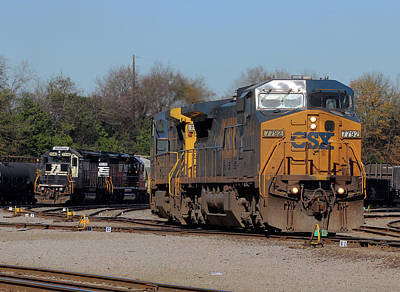 Photograph - Csx Yard 12 12 2014 A by Joseph C Hinson Photography