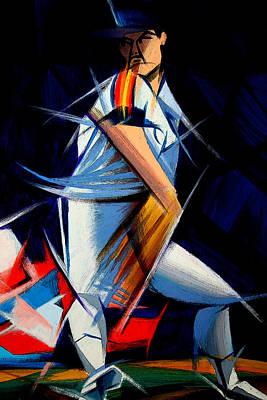 Houston Astros Painting - Cubist Houston Astros Player by Delia Bonfilio