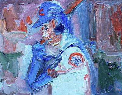 Cleveland Indians Painting - Cubs World Series  by John Kilduff