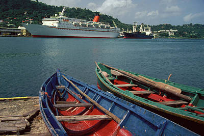 Photograph - Cunard Countess In Caribbean by Carl Purcell