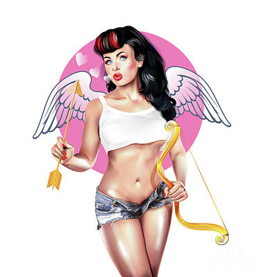 Digital Art - Cupid by Brian Gibbs