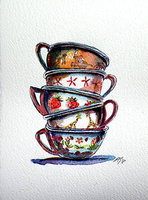 Painting - Cups by Kovacs Anna Brigitta
