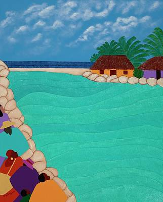 Painting - Curacao Lagoon by Synthia SAINT JAMES