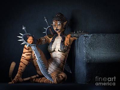 Kitty Digital Art - Curiosity Can Be Deadly by Alexander Butler