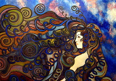 Painting - Curly Girl by Monica Furlow