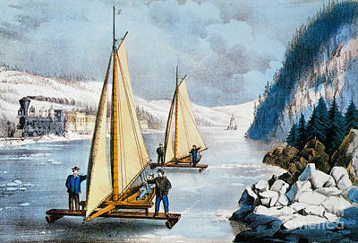 Painting - Currier & Ives Winter Scene by Granger