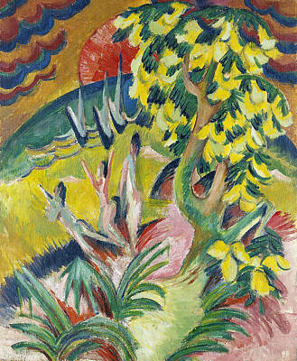 Undressed Painting - Curving Bay by Ernst Ludwig Kirchner