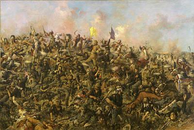 Edgar S. Paxson Painting - Custer's Last Stand by Edgar Samuel Paxson