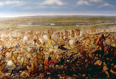 Jt History Photograph - Custers Last Stand, General George by Everett