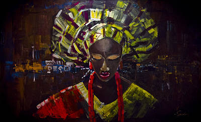Yoruba Painting - Customs by Uly Ogwah