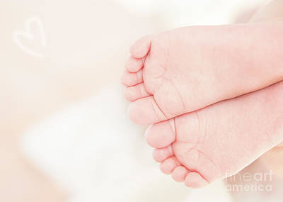 Photograph - Cute Little Baby Feet by Anna Om