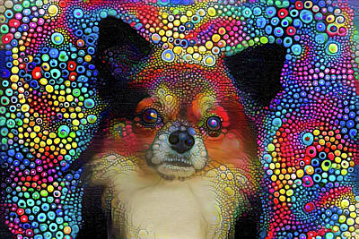 Mixed Media - Cute Puppy by Lilia D