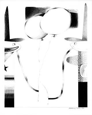 Cycloptic Couple Art Print by Tony Paine