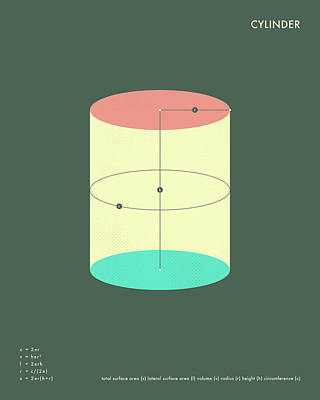 Cylinder Art Print by Jazzberry Blue