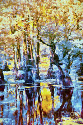 Digital Art - Cypress Swamp Land Ap by Dan Carmichael