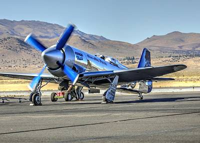 Photograph - Czech Mate Engine Start Sunday Afternoon Gold Unlimited Reno Air Races by John King