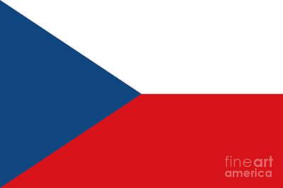 Czech Republic Mixed Media - Czech Republic Flag by Frederick Holiday