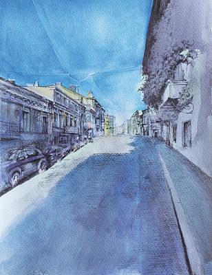 Tbilisi Drawing - D. Agmashenebeli Ave. by Anastasia Logvinenko