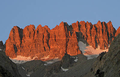 Photograph - D2m6404 Sunrise On Palisade Crest by Ed Cooper Photography