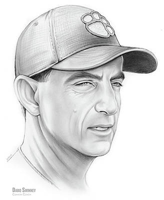 Drawings Rights Managed Images - Dabo Swinney Royalty-Free Image by Greg Joens