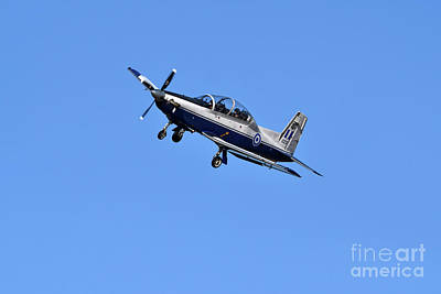 Photograph - Daedalus Demo Team Of Hellenic Air Force Flying T-6a Texan II by George Atsametakis