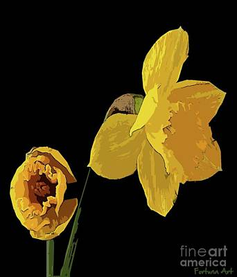 Digital Art - Daffodils by Dragica Micki Fortuna